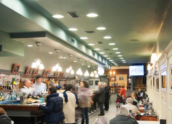 Planta principal del Café Lago
